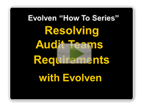 video resources resolving audit teams requirements