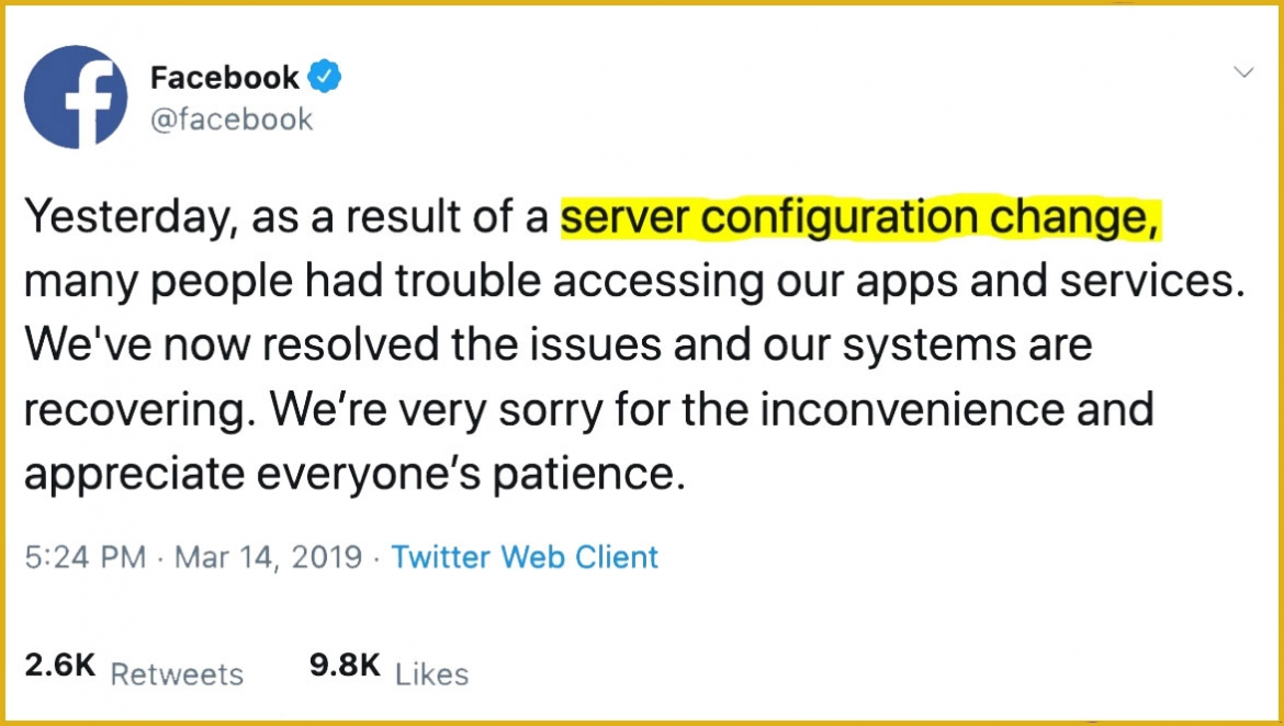 The Facebook Outage Heard Around the World - What IT Ops Can Learn